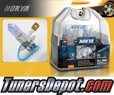 NOKYA® Cosmic White Fog Light Bulbs - 87-94 Saab 9000 Sedan (H3)
