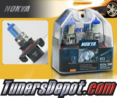 NOKYA® Cosmic White Headlight Bulbs - 05-08 Ford F-450 F450 Superduty, w/ Replaceable Halogen Bulbs (H13/9008)