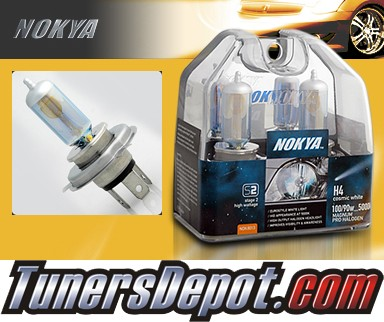 NOKYA® Cosmic White Headlight Bulbs  - 1999 VW Volkswagen Cabrio w/2 Headlights (H4/HB2/9003)