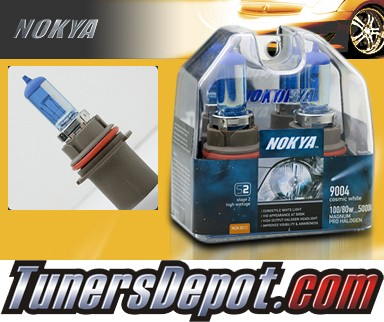 NOKYA® Cosmic White Headlight Bulbs - 86-88 Chevy Monte Carlo w/ Replaceable Halogen Bulbs (9004/HB1)