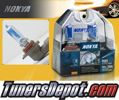 NOKYA® Cosmic White Headlight Bulbs (High Beam) - 2008 Volvo V50 w/ Replaceable Halogen Bulbs (9005/HB3)