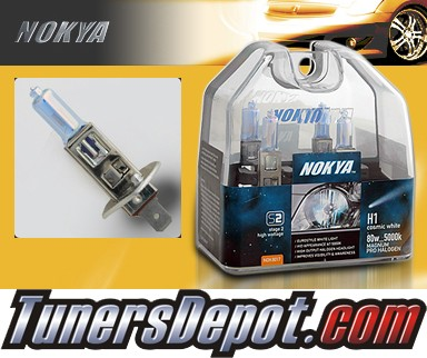 NOKYA® Cosmic White Headlight Bulbs (High Beam) - 98-00 Mercedes C280 w/ Replaceable Halogen Bulbs (H1)