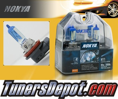 NOKYA® Cosmic White Headlight Bulbs (Low Beam) - 05-08 Volvo S40 w/ Replaceable Halogen Bulbs (H11)