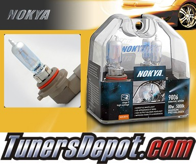 NOKYA® Cosmic White Headlight Bulbs (Low Beam) - 1992 Plymouth Colt Hatchback, Non Canada model (9006/HB4)