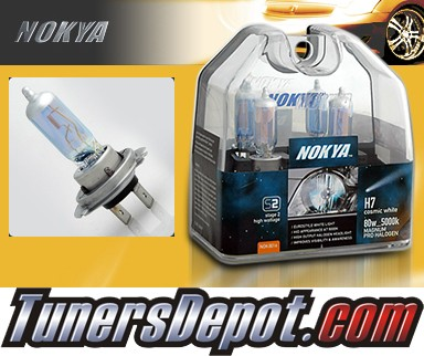 NOKYA® Cosmic White Headlight Bulbs (Low Beam) - 98-99 Mercedes S320 w/ Replaceable Halogen Bulbs (H7)