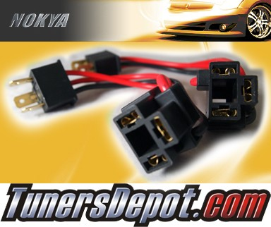NOKYA® Heavy Duty Headlight Harnesses - 95-97 GEO Metro w/ Replaceable Halogen Bulbs (H4/HB2/9003)
