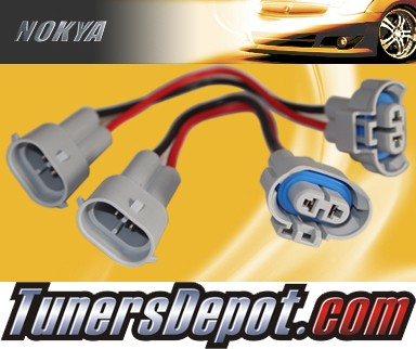 NOKYA® Heavy Duty Headlight Harnesses (High Beam) - 03-06 Audi A4 Cabriolet, w/ Replaceable Halogen Bulbs (H9)