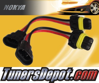 NOKYA® Heavy Duty Headlight Harnesses (High Beam) - 03-06 Lincoln Town Car w/ Replaceable Halogen Bulbs (9005/HB3)