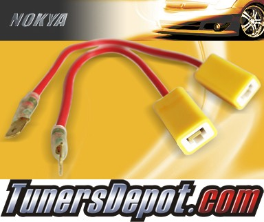 NOKYA® Heavy Duty Headlight Harnesses (Low Beam) - 02-04 Nissan Altima w/ Replaceable Halogen Bulbs (H1)