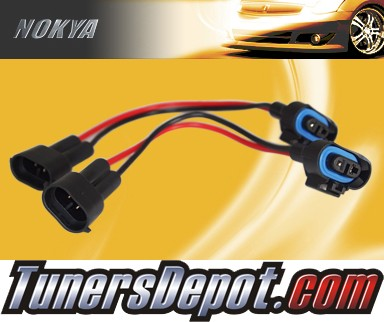 NOKYA® Heavy Duty Headlight Harnesses (Low Beam) - 04-04 Mitsubishi Lancer EVO w/ Replaceable Halogen Bulbs (H11)