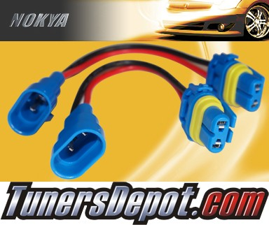 NOKYA® Heavy Duty Headlight Harnesses (Low Beam) - 91-94 Pontiac Sunbird w/ Replaceable Halogen Bulbs (9006/HB4)