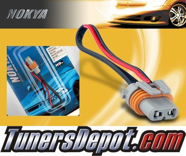 NOKYA® Heavy Duty Headlight Harnesses (Low Beam) - 98-04 Cadillac Seville w/ Replaceable Halogen Bulbs (9006/HB4)