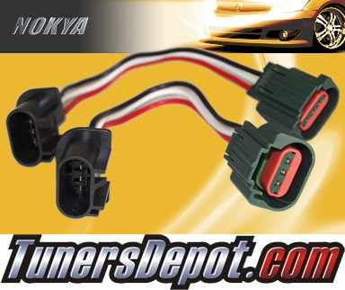 NOKYA® Heavy Duty Headlight Harnesses (Low and High Beam) - 08-08 Ford Mustang w/ Replaceable Halogen Bulbs (H13)