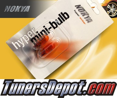 NOKYA® Hyper Amber Front Sidemarker Light Bulbs - 2009 GMC Acadia w/ Replacable Halogen bulbs
