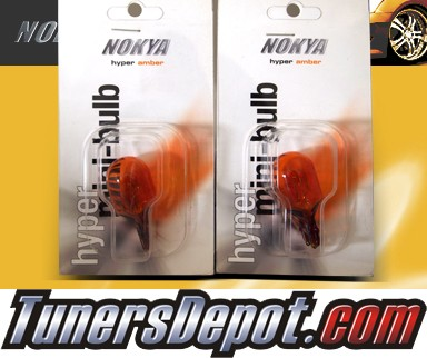 NOKYA® Hyper Amber Front Turn Signal Light Bulbs - 2009 Nissan 370Z