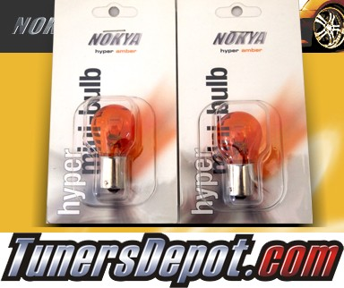 NOKYA® Hyper Amber Rear Turn Signal Light Bulbs - 2010 Hyundai Accent 3dr Hatchback