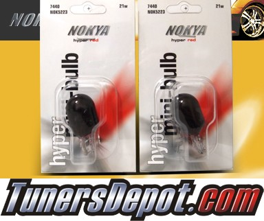 NOKYA® Hyper Red Rear Turn Signal Light Bulbs - 2009 Toyota Yaris 4dr Sedan