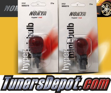 NOKYA® Hyper Red Rear Turn Signal Light Bulbs - 2010 Nissan Sentra