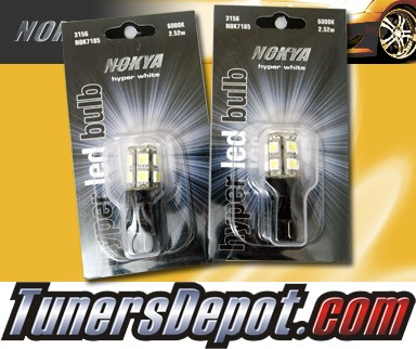 NOKYA® Hyper White LED Bulbs (Pair) - 3157 Dual Fil Plug In (Omnidirectional) 2.52w
