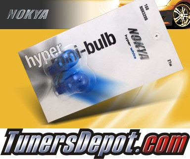 NOKYA® Hyper White License Plate Bulbs - 2009 Hyundai Accent 3dr Hatchback