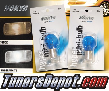 NOKYA® Hyper White Rear Turn Signal Light Bulbs - 2010 BMW 528i 4dr E60