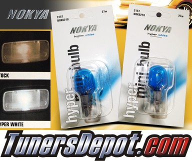 NOKYA® Hyper White Rear Turn Signal Light Bulbs - 2010 Chevy Equinox