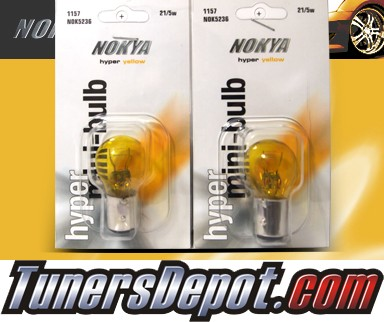 NOKYA® JDM Yellow Rear Turn Signal Light Bulbs - 2010 VW Volkswagen Jetta 4dr Sedan