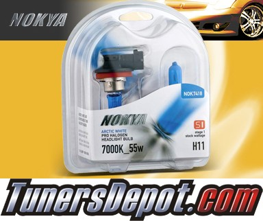 NOKYA® STAGE I Arctic White Bulbs - Universal H11 (Low Watt)