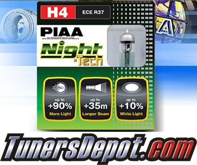 PIAA® Night-Tech Headlight Bulbs - 2012 Mazda 2 (H4/9003/HB2)