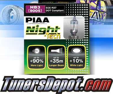 PIAA®Night-Tech Headlight Bulbs (High Beam)- 2013 Acura TL 3.7 (9005/HB3)