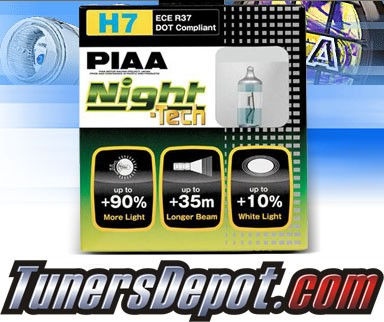 PIAA®Night-Tech Headlight Bulbs (High Beam)- 2013 Ford Fusion (H7)