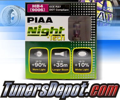 PIAA® Night-Tech Headlight Bulbs (Low Beam) - 2012 Dodge Avenger (9006/HB4)