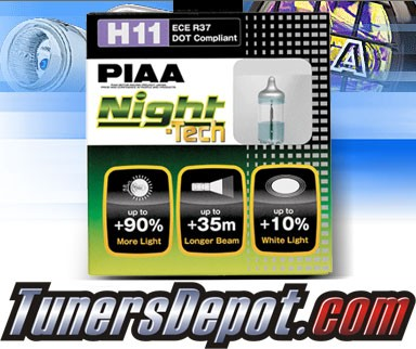 PIAA® Night-Tech Headlight Bulbs (Low Beam) - 2012 Ford Focus (H11)