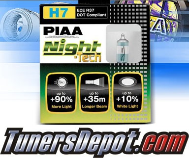 PIAA® Night-Tech Headlight Bulbs (Low Beam) - 2012 Porsche Cayenne (H7)