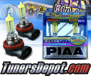 PIAA® Plasma Yellow Fog Light Bulbs - 09-11 Honda Fit (H11)