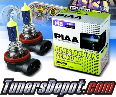 PIAA® Plasma Yellow Fog Light Bulbs - 10-11 BMW 528i 4dr E60 (H8)