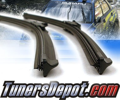 PIAA® Si-Tech Silicone Blade Windshield Wipers (Pair) - 02-07 Mitsubishi Lancer (Inc. Evolution) (Driver & Pasenger Side)