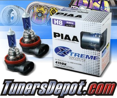 PIAA® Xtreme White Daytime Running Light Bulbs - 09-11 BMW 128i E82/E88 (H8)