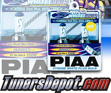 PIAA® Xtreme White Plus Headlight Bulbs (Low Beam) - 2013 Mercedes Benz C250 W204 (H7)
