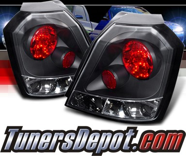 Spec D Altezza Tail Lights Black 04 06 Chevy Aveo Hatchback Lt Ave04jm Tm