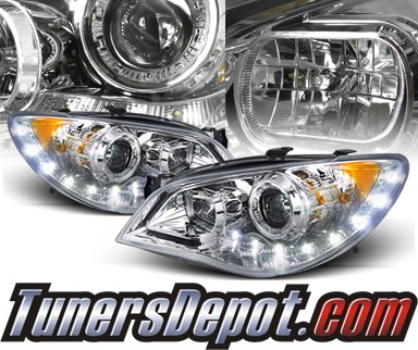 SPEC-D® DRL LED Projector Headlights - 06-07 Subaru Impreza WRX STi