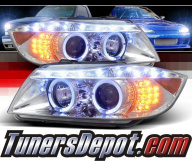 SPEC-D® DRL LED Projector Headlights - 06-08 BMW 323i 4dr E90 (Version 2)