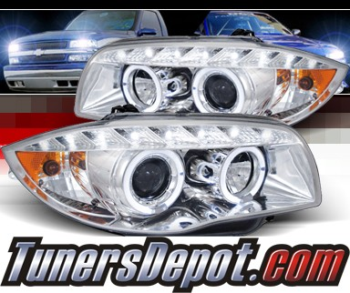 SPEC-D® DRL LED Projector Headlights - 08-12 BMW 128i E82/E88