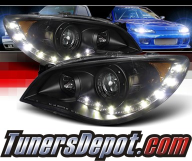 SPEC-D® DRL LED Projector Headlights (Black) - 06-07 Subaru Impreza WRX STi