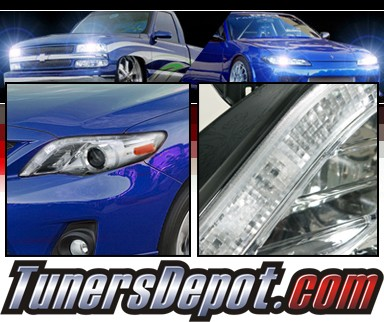 SPEC-D® DRL LED Projector Headlights (Chrome) - 11-12 Toyota Corolla