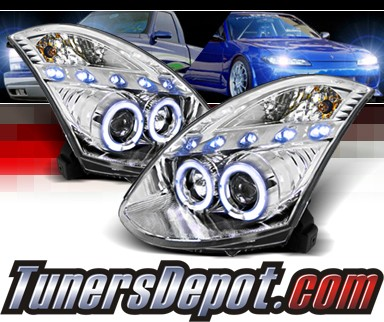 SPEC-D® Halo LED Projector Headlights - 03-08 Infiniti G35 2dr (w/ OEM HID Only)