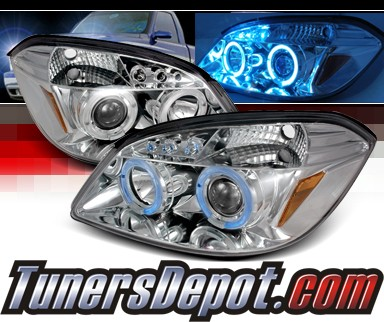 SPEC-D® Halo LED Projector Headlights - 05-10 Chevy Cobalt