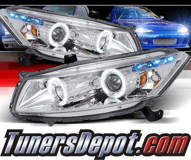 SPEC-D® Halo LED Projector Headlights - 08-12 Honda Accord 2dr