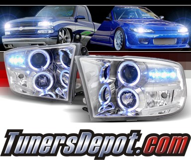 SPEC-D® Halo LED Projector Headlights - 09-12 Dodge Ram Pickup