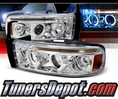 SPEC-D® Halo LED Projector Headlights - 94-01 Dodge Ram 2500 / 3500 Pickup